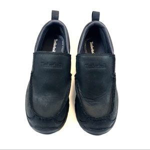 Timberland Shoes - Timberland Black Leather Boys SlipOns